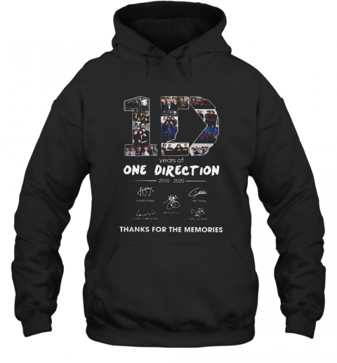 10 Years Of One Direction 2010 2020 Signatures Hoodie
