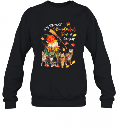 It's Just A Bunch Of Hocus Pocus Witch Cat Halloween Sweatshirt