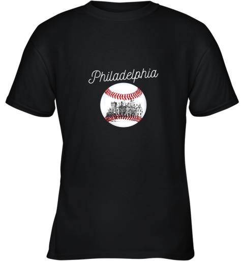 Philadelphia Baseball Philly Tshirt Ball and Skyline Design Youth T-Shirt