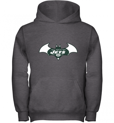 9ugy we are the new york jets batman nfl mashup youth hoodie 43 front dark heather