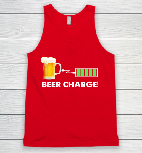 Beer Lover Funny Shirt Beer Charge Tank Top 5