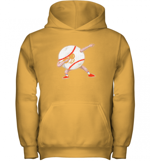 y8bt kids funny dabbing baseball player youth shirt cool gift boy youth hoodie 43 front gold
