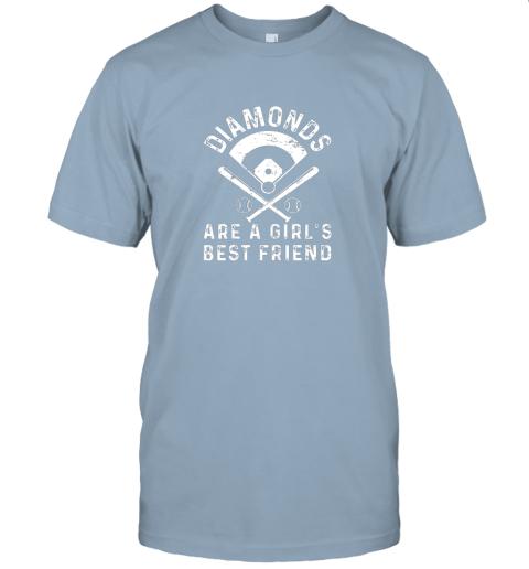 3tsp diamonds are a girl39 s best friend baseball jersey t shirt 60 front light blue