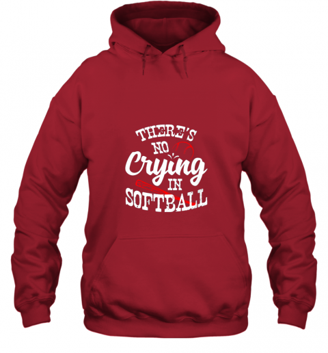gptu theres no crying in softball game sports baseball lover hoodie 23 front red