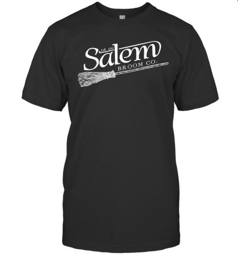 Salem Broom Company Tee, Halloween Black Cat Witch T-Shirt