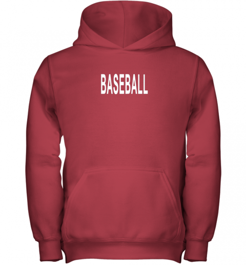 krcn shirt that says baseball youth hoodie 43 front red