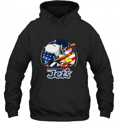 Winnipeg Jets  Snoopy And Woodstock NHL Hoodie