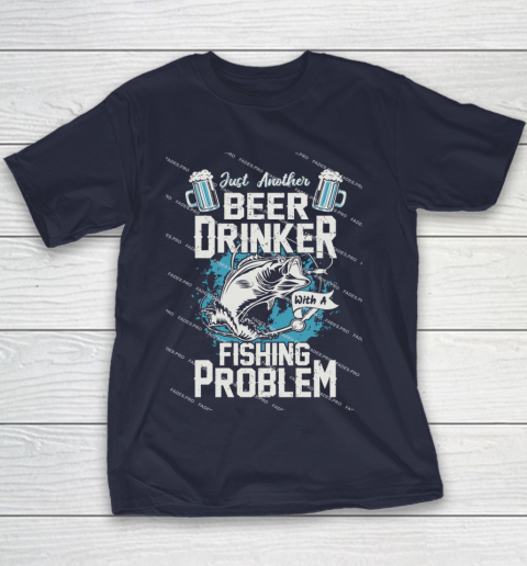 Beer Lover Funny Shirt Fishing ANd Beer Youth T-Shirt 2