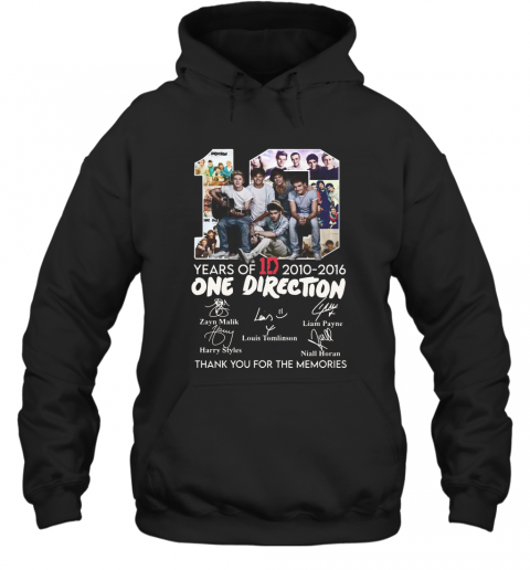 10 Years Of 1D 2010 2016 One Direction Thank You For The Memories Signatures Hoodie
