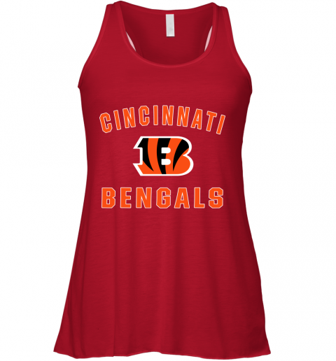 luah cincinnati bengals nfl pro line gray victory flowy tank 32 front red