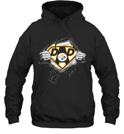 Superhero Pittsburgh Steelers Diamond Father'S Day Hoodie