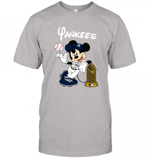 kmlj new york yankees mickey taking the trophy mlb 2019 jersey t shirt 60 front ash