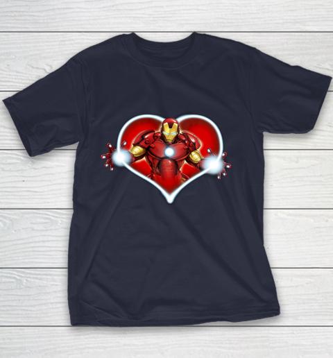 Marvel Iron Man Heart Blaster Glow Valentine Graphic Youth T-Shirt 2