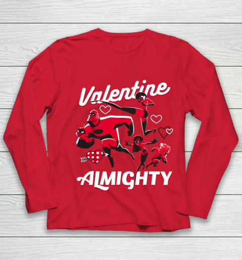 Disney Pixar Incredibles Family Valentine Almighty Youth Long Sleeve 8