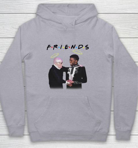 Chadwick Boseman and Stan Lee F.r.i.e.n.d.s Youth Hoodie 4