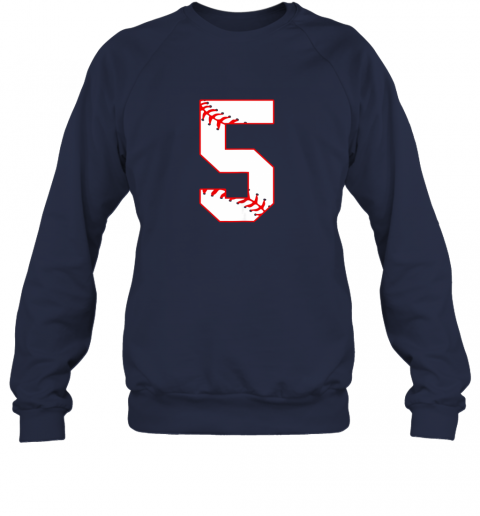 5jxy cute fifth birthday party 5th baseball shirt born 2014 sweatshirt 35 front navy