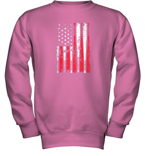 8tgx vintage baseball bat american usa flag gift youth sweatshirt 47 front safety pink