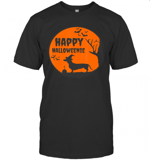 Happy Halloweenie, Halloween Dachshund Dog Shirt Gift T-Shirt