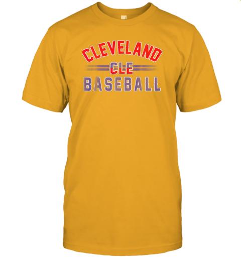 wvmo cleveland cle baseball jersey t shirt 60 front gold
