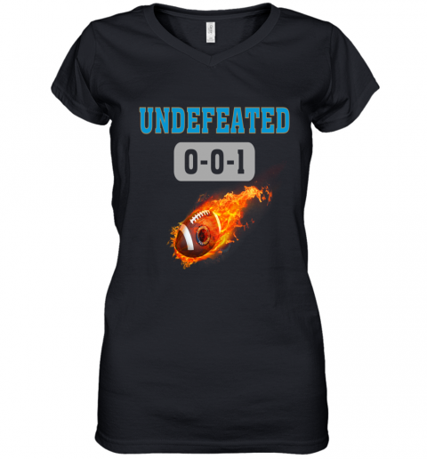 NFL CAROLINA PANTHERS Logo Undefeated Women's V-Neck T-Shirt