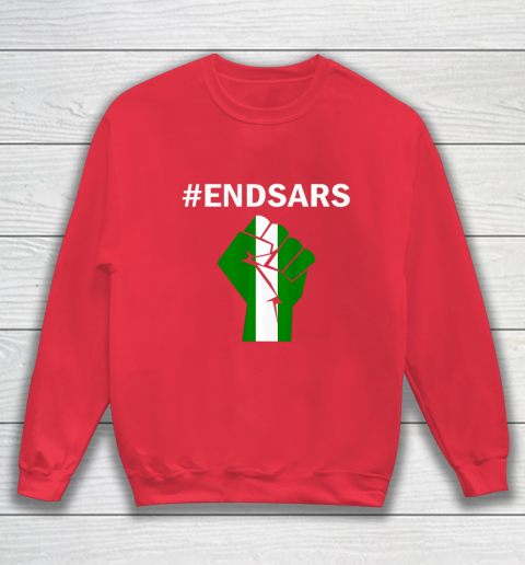 EndSARS End SARS Nigeria Flag Colors Strong Fist Protest Sweatshirt 7