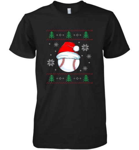 Ugly Christmas Baseball Shirt Boys Kids Ball Santa Pajama Premium Men's T-Shirt