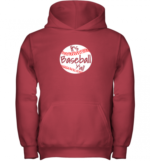 okn1 it39 s baseball y39 all shirt funny pitcher catcher mom dad gift youth hoodie 43 front red