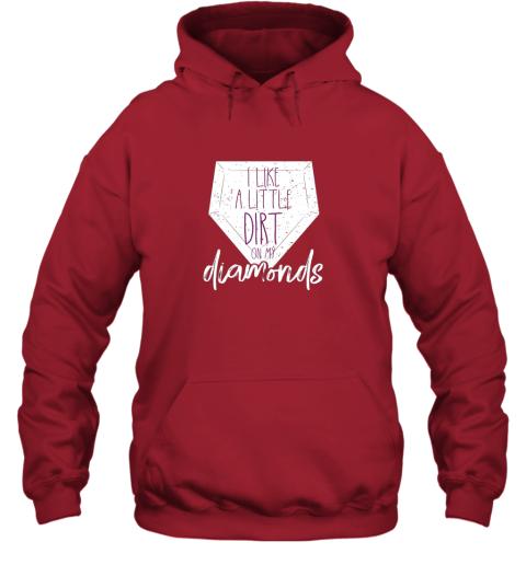 karm i like a little dirt on my diamonds baseball hoodie 23 front red