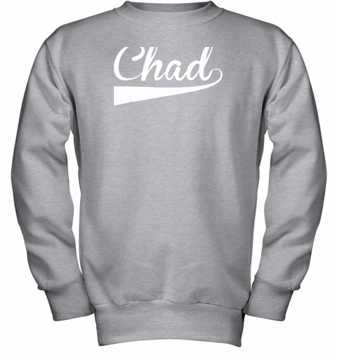 zcpf chad country name baseball softball styled youth sweatshirt 47 front sport grey