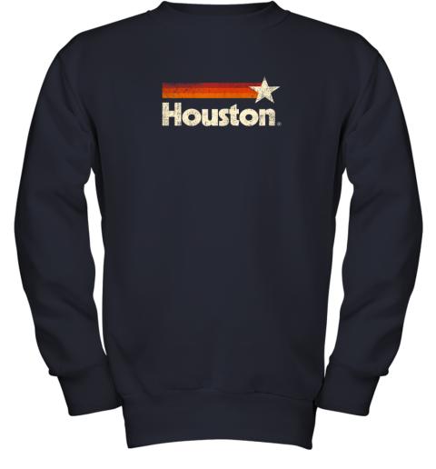 t0lx houston texas shirt houston strong shirt vintage stripes youth sweatshirt 47 front navy
