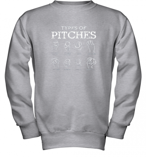 r0ws types of pitches softball baseball team sport youth sweatshirt 47 front sport grey
