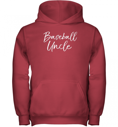 x26j baseball uncle shirt for men cool baseball uncle youth hoodie 43 front red