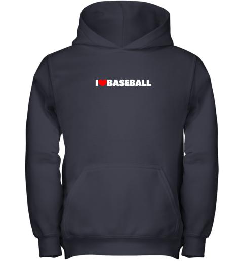 pymg i love heart baseball youth hoodie 43 front navy