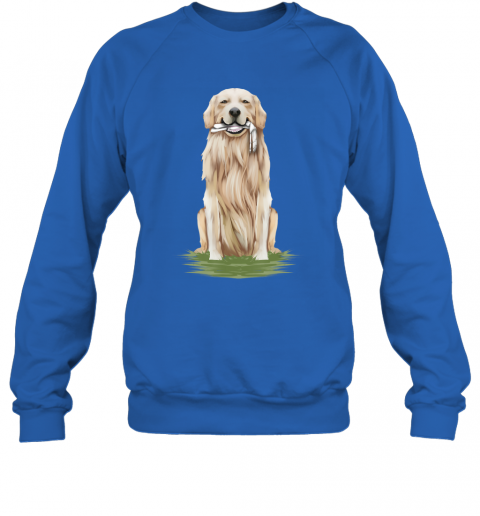 Funny Golden Retriever Dog Eating A Bone Halloween Sweatshirt