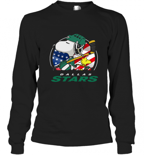 Dallas Stars Ice Hockey Snoopy And Woodstock NHL Long Sleeve T-Shirt