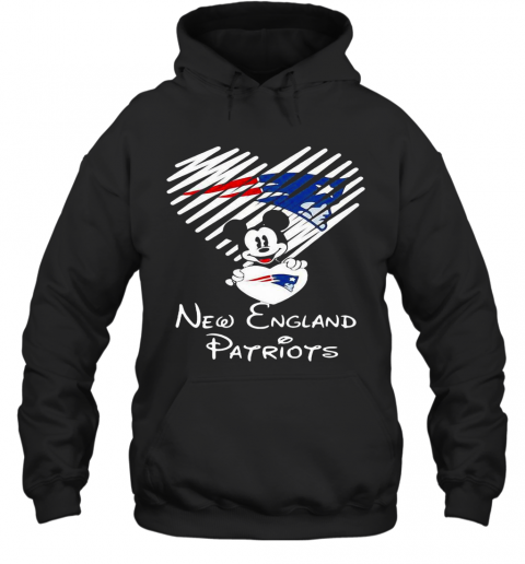 Mickey Mouse Love New England Patriots Hoodie