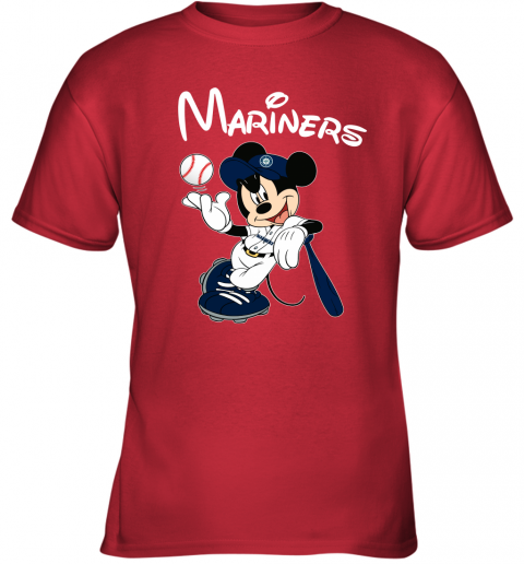 tq4g baseball mickey team seattle mariners youth t shirt 26 front red