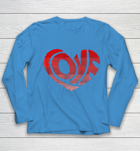 Retro Valentine Heart Shirt Great Valentines Day Gift Youth Long Sleeve 5