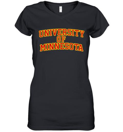 University Of Minnesota Women's V-Neck T-Shirt