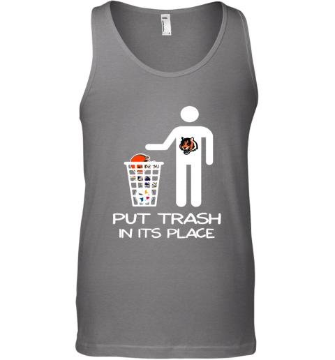 Cincinnati Bengals Put Trash In Its Place Funny NFL Tank Top