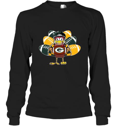 Green Bay Packers  Thanksgiving Turkey Football NFL Long Sleeve T-Shirt