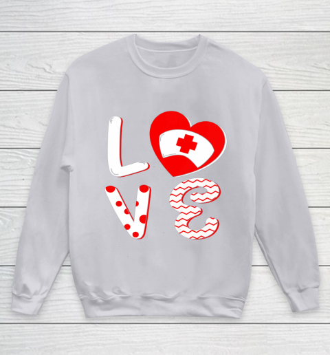 Medical Nurse Valentine Day Shirt Love Matching Youth Sweatshirt 3