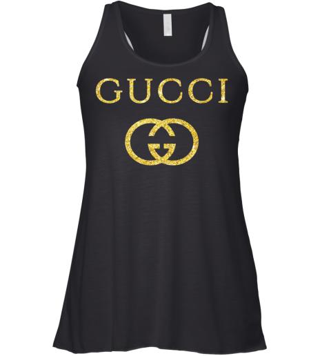 Gucci Logo Vintage Inspired Glitter Womens Racerback Tank Top