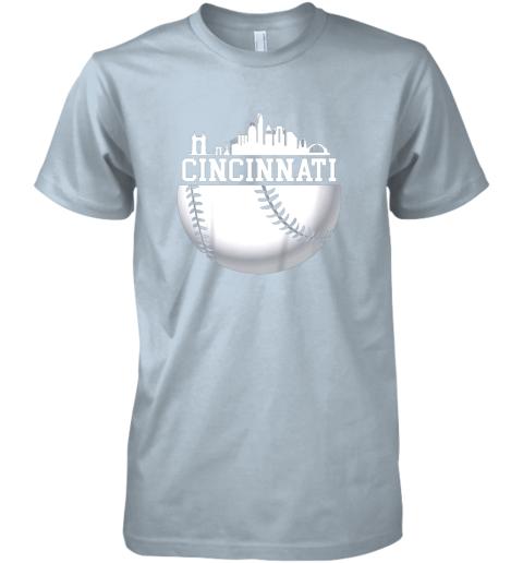 ve5y vintage downtown cincinnati shirt baseball retro ohio state premium guys tee 5 front light blue