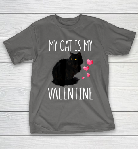Black Cat Shirt For Valentine s Day My Cat Is My Valentine T-Shirt 18