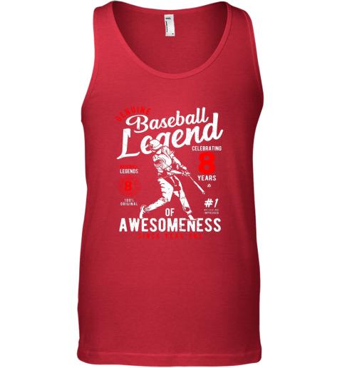 tvzu kids 8th birthday gift baseball legend 8 years unisex tank 17 front red