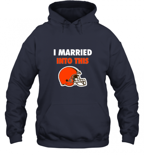 zw8p i married into this cleveland browns football nfl hoodie 23 front navy