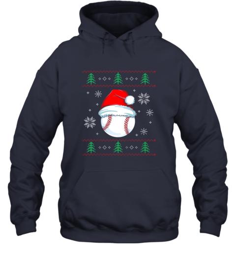 vz0w ugly christmas baseball shirt boys kids ball santa pajama hoodie 23 front navy