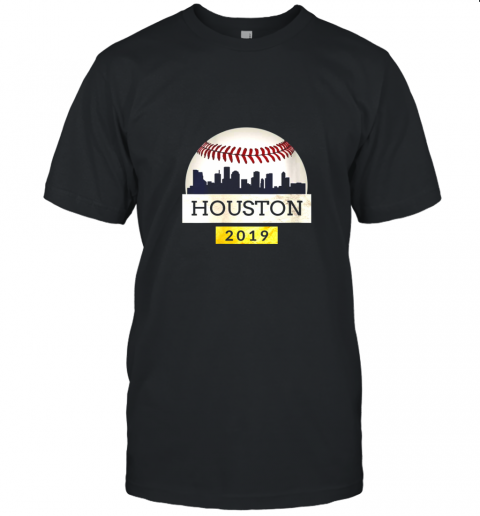 Houston Baseball Shirt 2019 Astro Skyline on Giant Ball Unisex Jersey Tee