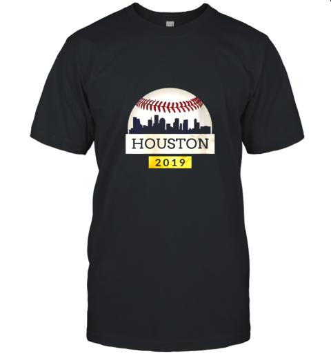 Houston Baseball Shirt 2019 Astro Skyline on Giant Ball Unisex Jersey Tee